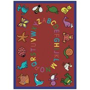 Joy Carpets ABC Animals Kids Area Rug - Assorted Colors