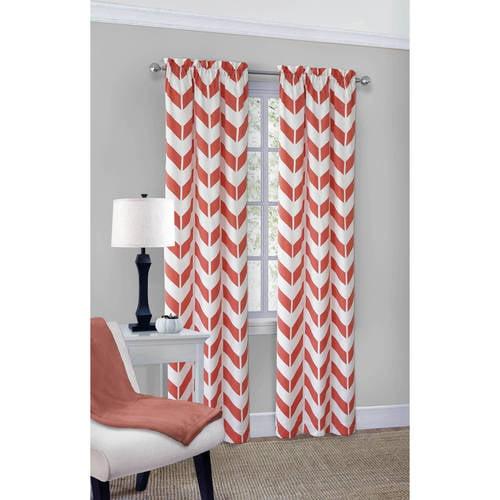 Mainstays Chevron Polyester/Cotton Curtain Panel Pair - Walmart.com