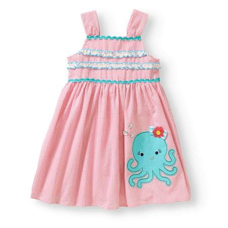 - Little Girls' Stripe Seersucker Dress