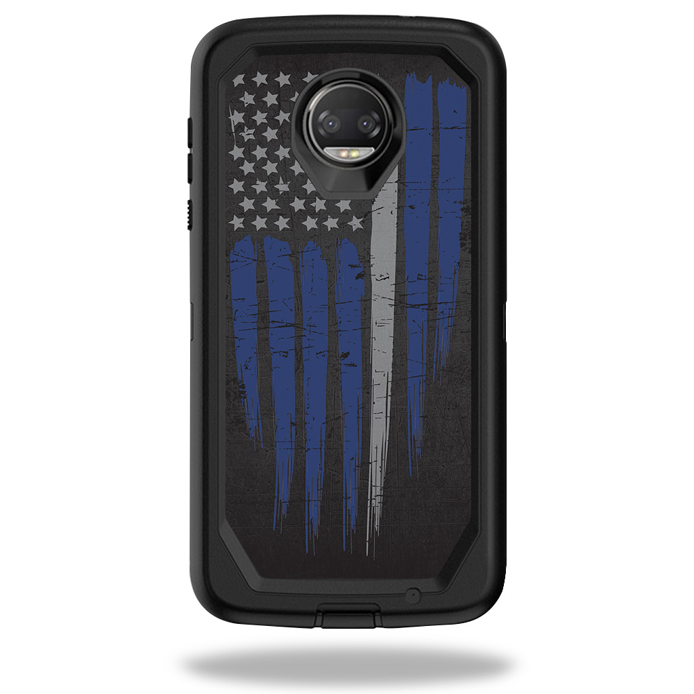 MightySkins Skin For OtterBox Defender Motorola Moto Z2 Force - America Strong | Protective, Durable, and Unique Vinyl Decal wrap cover | Easy To Apply, Remove, and Change Styles | Made in the USA