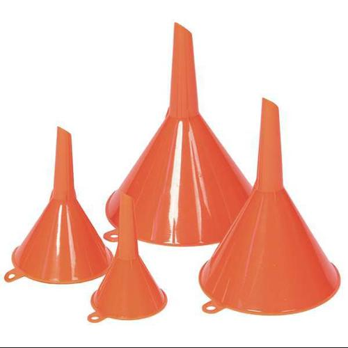 Funnel King 4-Pc. Funnel Set, Polyethylene, Orange, 32837
