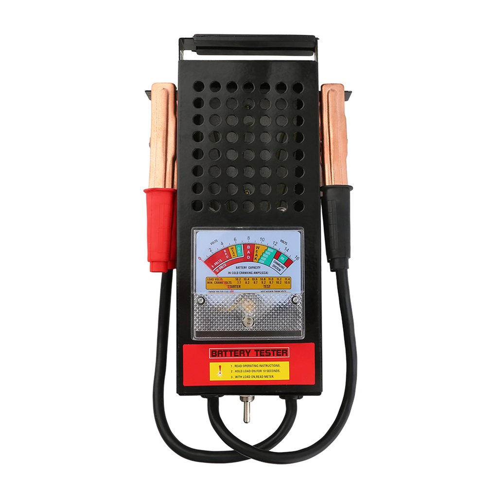 Lightweight Battery Tester 100A Load Mechanics 6V 12V Car Truck Battery Testing Tool Durable Automotive Supplies