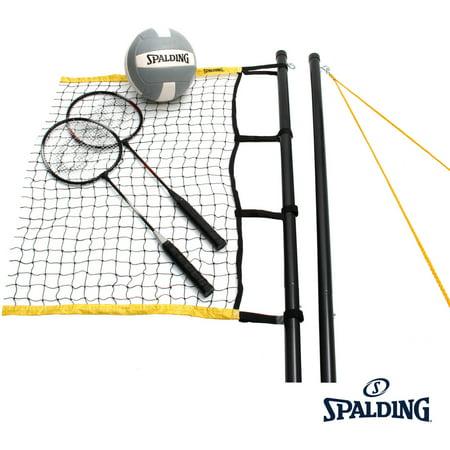 Spalding Premier Volleyball/Badminton Combo