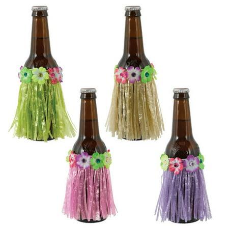 Grass Skirts Bulk (Hawaiian Luau 'Tropical Jungle' Grass Skirt Bottle Covers)