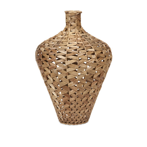 Traditional Brown Lelei Large Woven Water Hyacinth Vase Home Decor Imax 67210