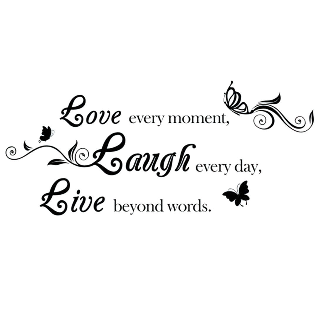 Home Laugh Live Letter Word Quote Removable DIY Wall Art Sticker Decal 60 x 26cm