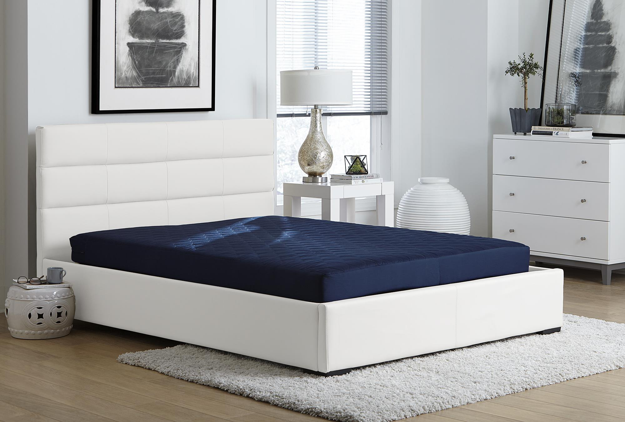 Twin Size 6 Inch Polyester Filled Mattress Comfort Quilted Tight Bedroom