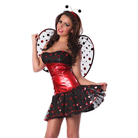 Delicious Sexy New Lady Bug Halloween Costume Glam Ladybug Outfit (Halloween Blaze Ny)