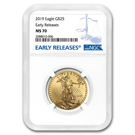 Gold Eagle Ms70 Early Release (2019 1/2 oz Gold American Eagle MS-70 NGC (Early Releases) )