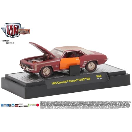 M2 Machines Auto Project Release 40 1:64 1969 Camaro SS/RS 350 Red White  Stripe