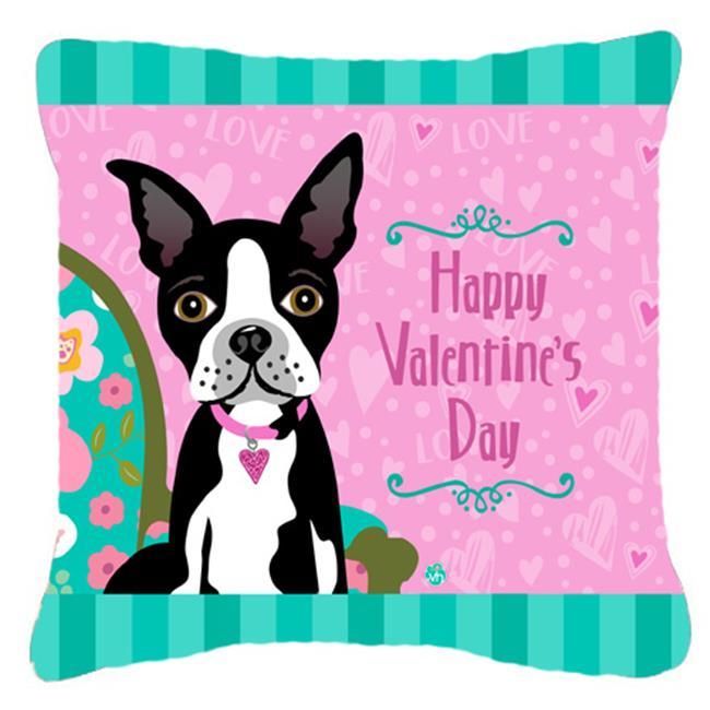 Carolines Treasures VHA40PW40 Happy Valentines Day Boston Magnificent Boston Terrier Decorative Pillow