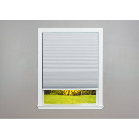 Easy Lift Trim-at-Home Cordless Cellular Blackout Fabric Shade White 0.375' Single Cellular Shades