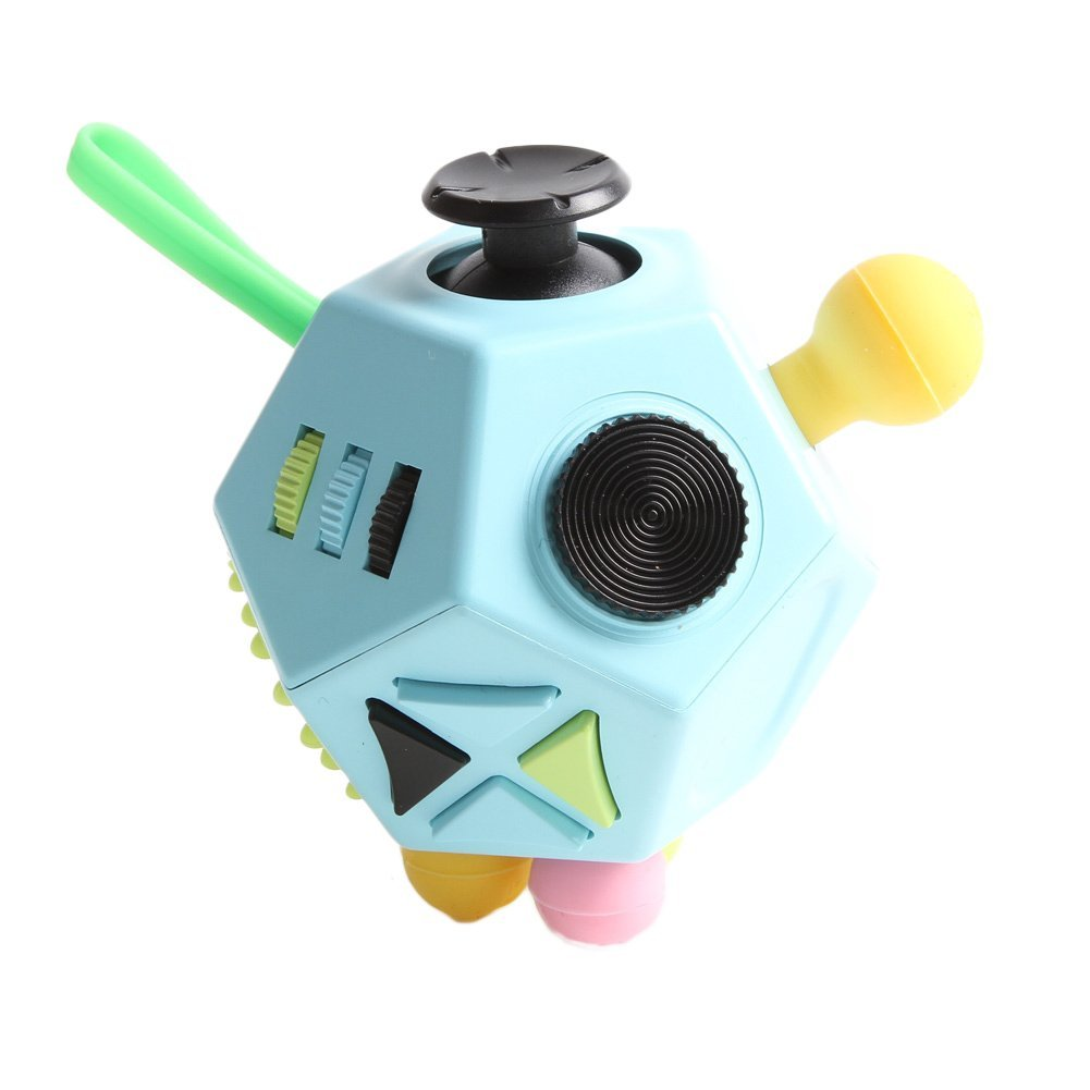 BetterHome Fidget Cube Anti-anxiety and Depression Cube Toy for Children and Adults 12 Side White