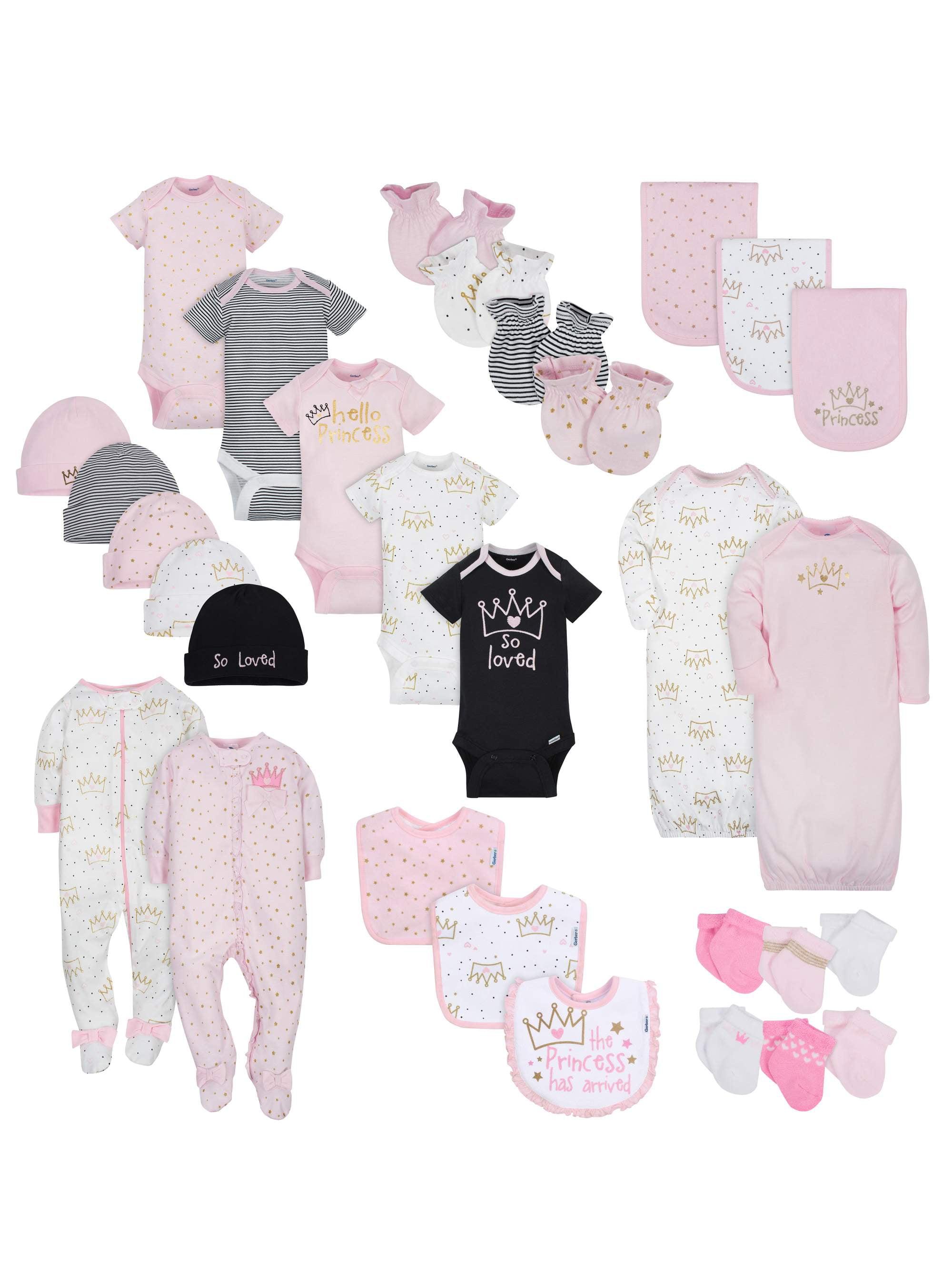 Gerber Layette Essentials Baby Shower Gift Set, 30pc (Baby Girls) by Gerber Childrenswear LLC