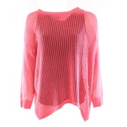 bobeau new pink coral women's size small s ribbed boat neck sweater