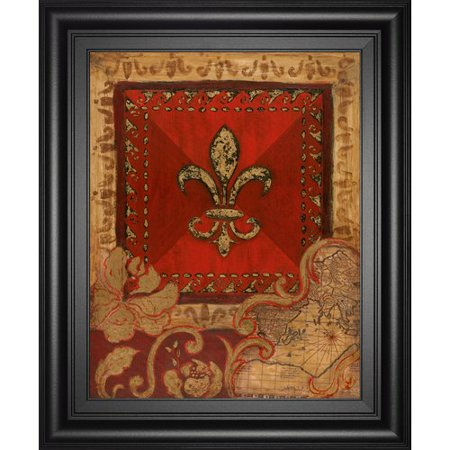 Classy Art Wholesalers Fleur Adorn II by Tava Studio Framed Graphic Art (Craft Wholesalers)