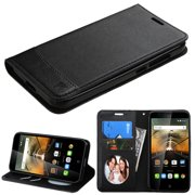 For 7046T One Touch Conquest Black MyJacket wallet (with card slot)