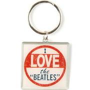 Beatles Metal Key Chain Silver