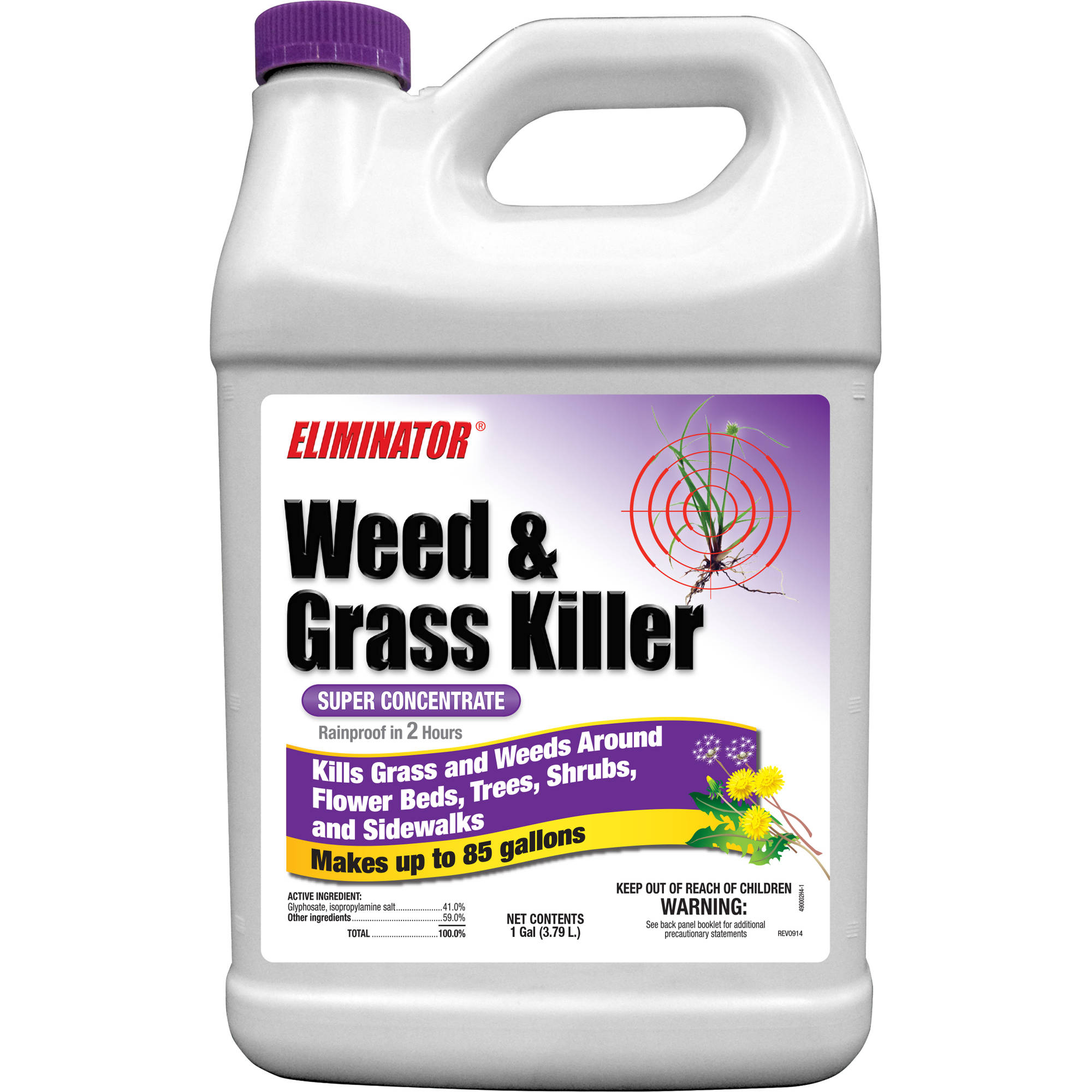 Eliminator Super Concentrate Liquid Weed and Grass Killer, 1 gal