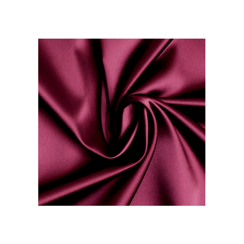 Burgundy Stretch Satin, Fabric By the Yard