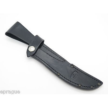 BUCK 541 OPEN SEASON BLACK LEATHER FIXED BLADE BONING KNIFE SHEATH FACTORY (Buck Hollow Leather)