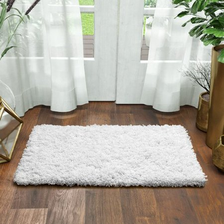 Super Area Rugs, Cozy Plush Solid White Shag Rug , 2' x 3' Orange Shag Rugby