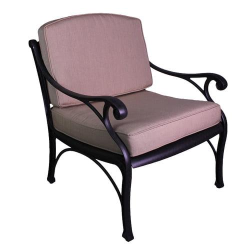 California Outdoor Designs La Jolla Deep Seating Club Chair with Cushion