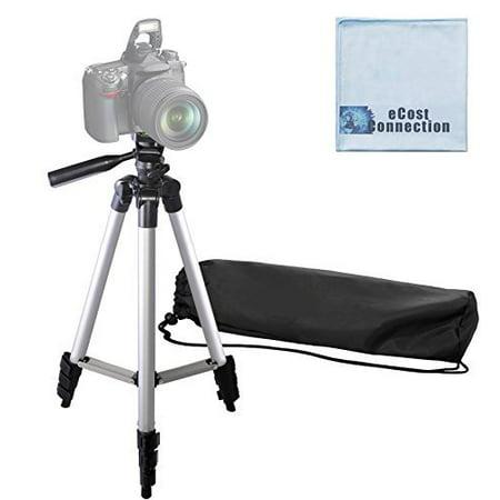 50 Inch Aluminum Camera Tripod For Canon, Nikon, Sony, Samsung, Olympus, Panasonic & Pentax + eCost (Sony Travel Tripod)