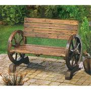 Zingz & Thingz 57070012 Wheels Wood Garden Bench