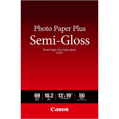 "Canon Photo Paper Plus Semi-Gloss 13"" x 19"", 50 Sheets"