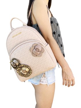 dc54d3a8cccb Product Image Michael Kors Abbey Medium Backpack Ballet Pink MK Signature  Flower School Bag