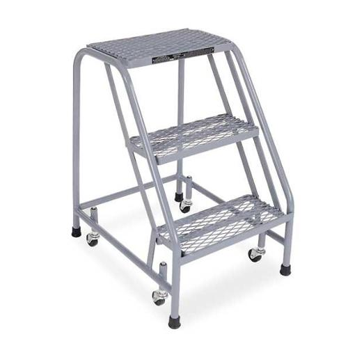 Cotterman Expanded Metal Rolling Ladder, Gray 1003N1820A1E10B3C1P1