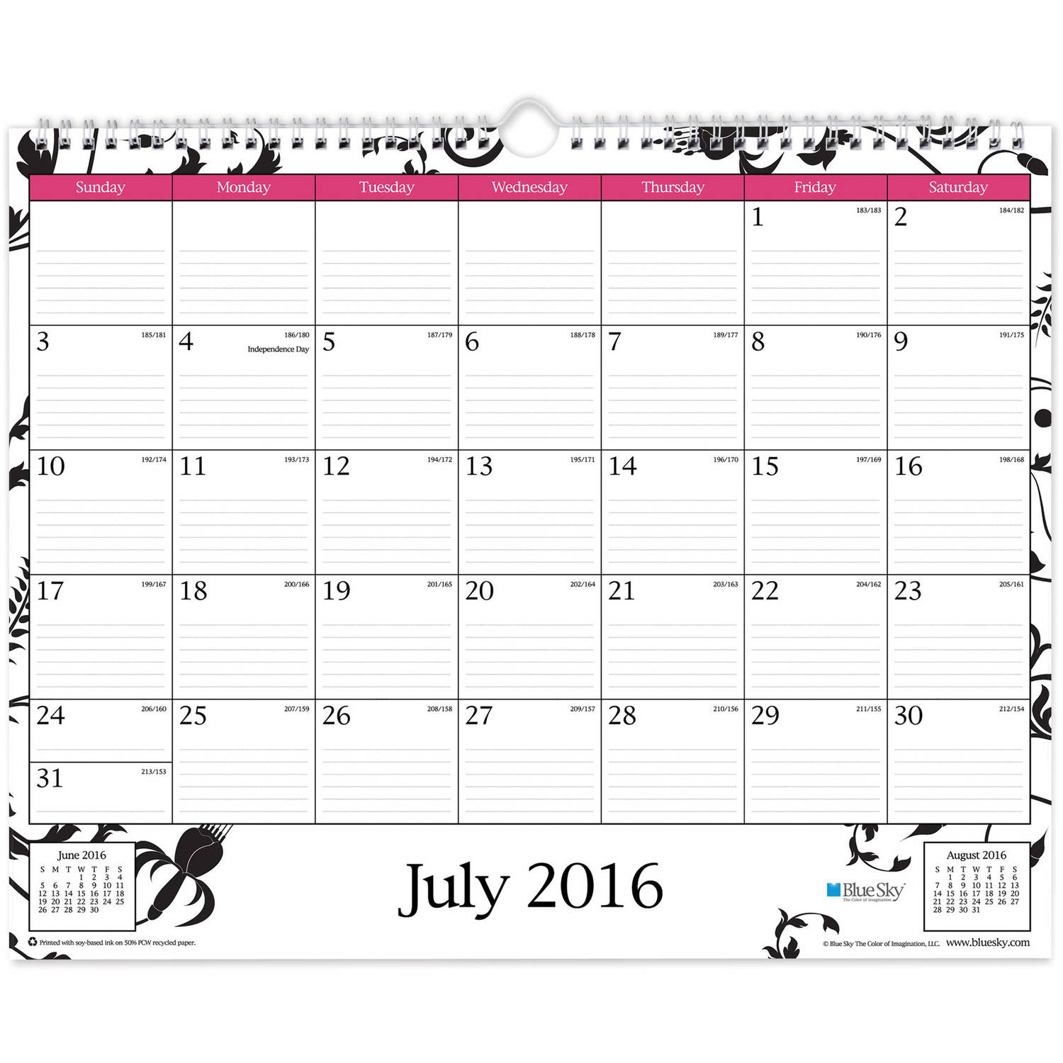 "Blue Sky Analeis Academic Year 2016-2017 Monthly 15"" x 12"" Wall Calendar"