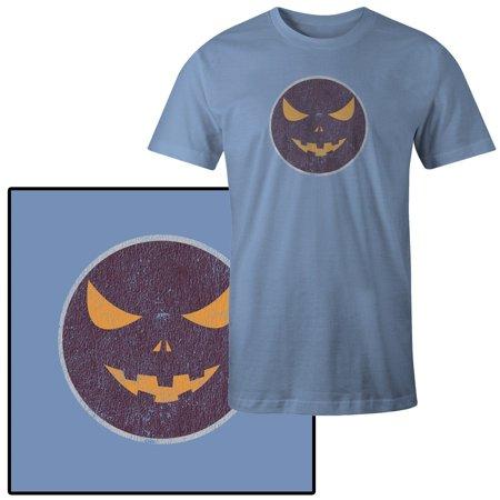 Men's Jack O Lantern Vector Image on Purple Halloween - Purple O