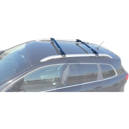 BrightLines Jeep Cherokee Aero Cross Bars,Roof Racks 2014-2019 ()