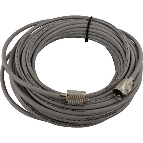 Tram RG8X 95% Shielded Coax Cable with hand soldered PL-259 for Cb / Ham / Scanner Radio 50' FEET