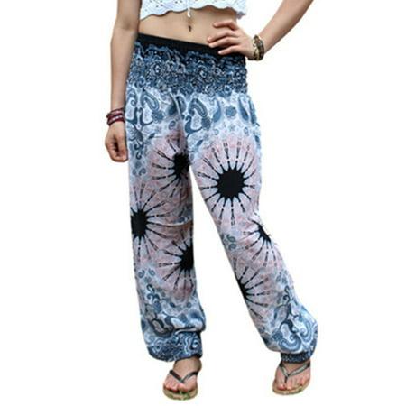 Womens Ali Baba Mandara Harem Trousers Smock Pants Leggings Baggy Aladdin Hippy (Aladdin Harem)