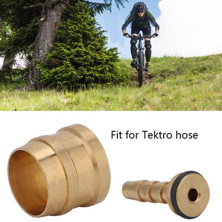Qiilu 10 Pairs Bicycle MTB Hydraulic Disc Brake Olive Connector Insert Hose for Tektro Replacement Part - image 3 of 9