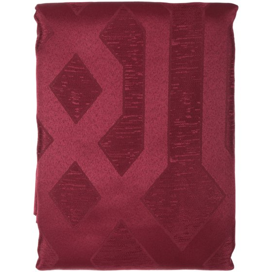MainstaysTM Tonal Jacquard Burgundy Fabric Shower Curtain