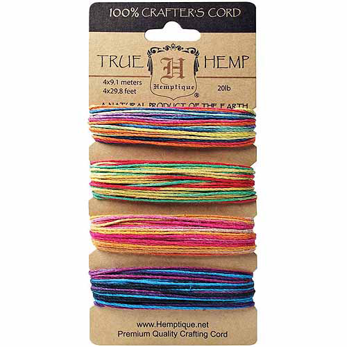 Hemptique Hemp Cord, Variegated #3