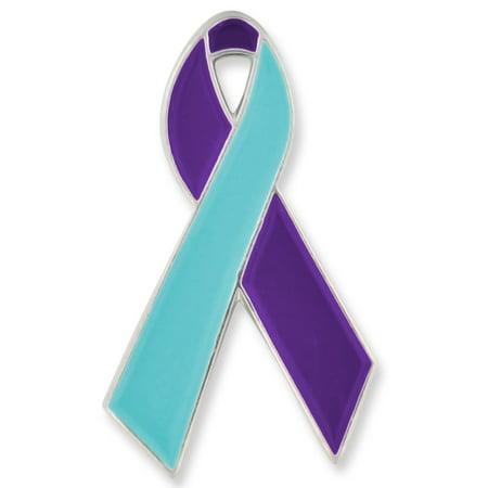 PinMart's Suicide Prevention Awareness Ribbon Enamel Lapel Pin