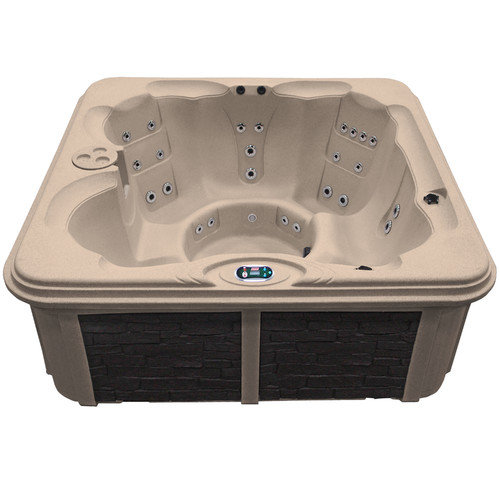 Coleman 6 Person 30 Jet Plug-N-Play Bench Spa with LED Waterfall