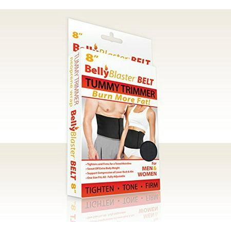 Fat perte de poids Ceinture-ventre Ceinture et taille Trimmer, 8 po, noir, (estomac ceinture pour la perte de poids)