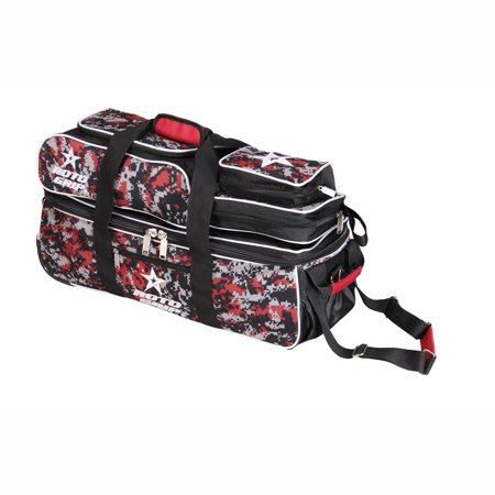 Roto Grip 3 Ball Tote Roller Bowling Bag- Black/Camo Red