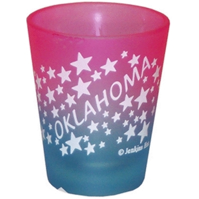"Ddi Oklahoma Shot Glass 2.25h X 2"" W Frosted Colored W (pack Of 96)"