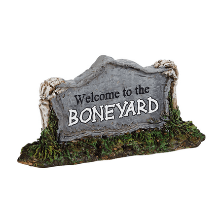 Department 56 Halloween Village Welcome to the Boneyard - West Village Bars For Halloween