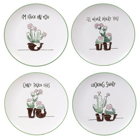 Dessert Plates Set (Desert Bloom Set of 4 Dessert)