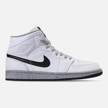 Air Jordan Mens Air Jordan 1 Mid White Black Wolf Grey 554724 115 Walmart Com Walmart Com