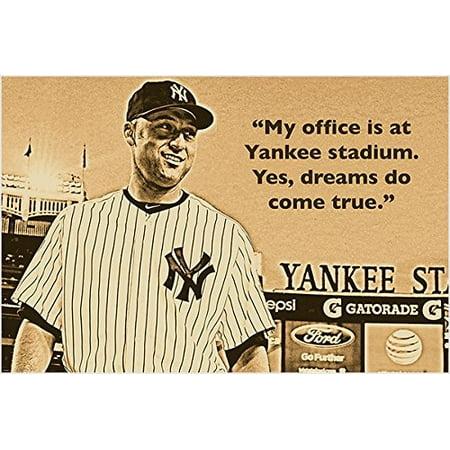 Yankee Stadium Musical Globe - Derek Jeter Quote Photo Poster