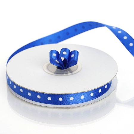 "Efavormart Multiple Colors Wedding Party Decoration DIY 3/8"" Satin Polka Dot Ribbons 25yds"